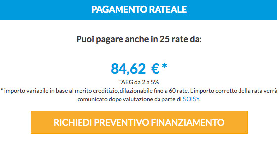 Inferriate Pagamento Rateale CheckOut Soisy